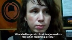 Tetyana Chornovol Speaks To Lady Liberty From The Maidan