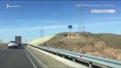 В Крыму вдоль трассы «Таврида» «позеленели» склоны (видео)