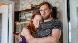 Аляксандр Дарафееў з жонкай Тацянай. Кіеў, 24 ліпеня 2020 году.
