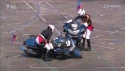 Бархӯрди мотосиклҳо ҳангоми ҷашни Рӯзи Бастилия дар Фаронса