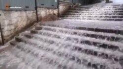 На південному узбережжі Криму – сильні зливи (відео)