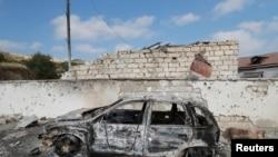 Ադրբեջանական ուժերի կողմից իրականացված ռմբահարման հետևանքները, Մարտակետ, Լեռնային Ղարաբաղ, 15 հոկտեմբերի, 2020թ.