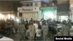 İranın Hamidyeh şəhərində etiraz aksiyası
