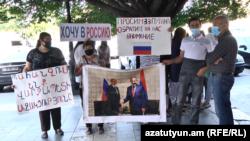 Ermənistanda hökumət binası qarşısında etiraz, 22 sentyabr, 2020-ci il