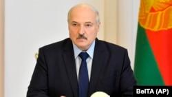 Александр Лукашенко, президенти Беларус. Акс аз 14-уми август