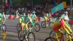 Казахи в Париже празднуют победy «Астаны»