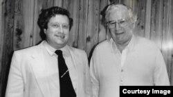 Виталий Витальев и Питер Устинов, Мельбурн, 1991 год
