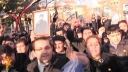 Əsgər ölümlərinə qarşı etiraz aksiyasından videogörüntülər
