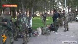 Տարբեր բնակավայրերից կամավորներ են մեկնում Ղարաբաղ