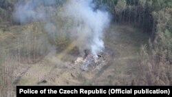 Depozitul privat de muniții de la Vrbetice, după explozie, octombrie 2014
