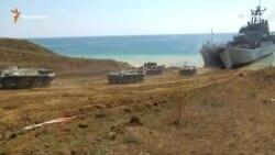 Російська армія проводить навчання в Феодосії
