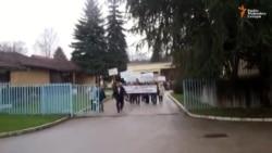 Protest radnika preduzeća Kosmos