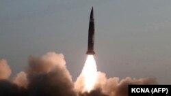 Испытания новых ракет в Северной Корее, 25 марта 2021 года.