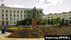 Ремонт площади Ленина в Симферополе