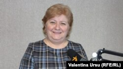 Tatiana Nagnibeda-Tverdohleb în studioul Europei Libere