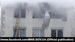 The deadly blaze erupted at around 3 p.m. on the second floor of the two-story building.