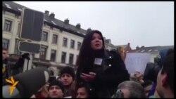 Мітинг солідарності з українським Євромайданом із участю Руслани