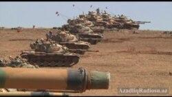 Türkiyə öz sərhədinə tankdan divar çəkdi