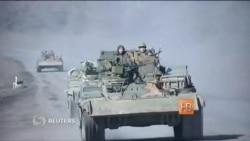 Украинская техника под Дебальцево после согласования отвода тяжелых вооружений между сепаратистами и силовиками