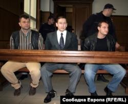 Алексей Кичатов, Александър Русов и Георги Георгиев (отляво надясно)
