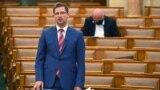 Gulyás Gergely Miniszterelnökséget vezető miniszter az Országgyűlés plenáris ülésén 2021. június 14-én