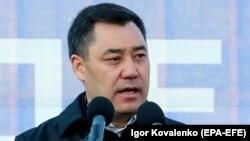 Садыр Жапаров, шайланган президент. Бишкек. 11-январь, 2021-жыл.