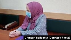 Лутфие Зудиева на заседании суда в Симферополе, 10 ноября 2020 год