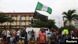Pamje nga protestat në Nigeri.