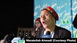 میرمفتون آوازخوان محلی مشهور افغانستان در برنامه سرود صلح در بدخشان