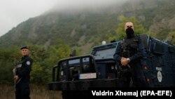 Косовските специјални единици во Јариње, во близина на границата меѓу Србија и Косово, 28.09.2021