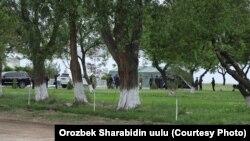Кыргыз-тажик чек арасындагы сүйлөшүү жүргөн жер