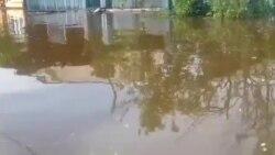 Дом Олеси Лыткиной в деревне Мураши после второй волны наводнения