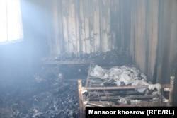 خسارتهای برجا مانده از آتشسوزی در شفاخانه کووید-۱۹ ولایت غور