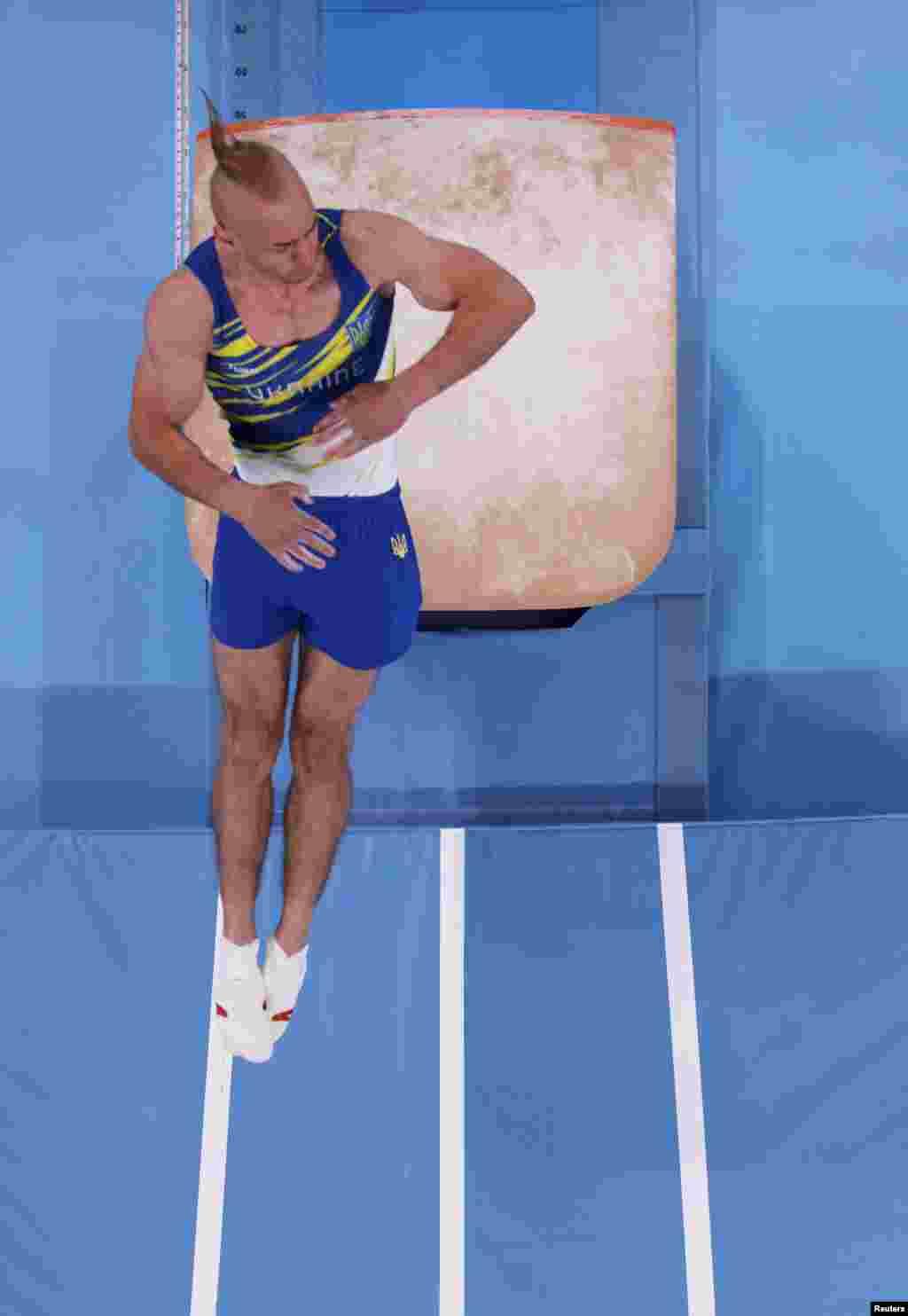 Петро Пахнюк із України під час фіналу з індивідуального багатоборства серед чоловіків. Токіо, Японія, 28 липня 2021 року