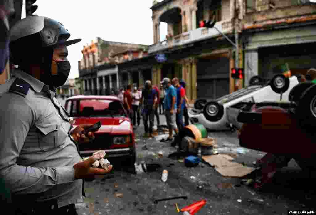 В понедельник на протесты вышли в Гаване, Сьенфуэгосе, Камагуэе, Сантьяго-де-Куба
