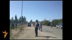 Вертолет над селом Саруу