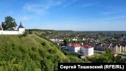 """Тобольск. Вид на кремль и """"нижний город"""""""