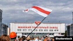 Протест на Мінському тракторному заводі. 18 серпня 2020 року