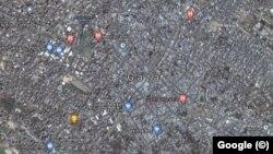 Grad Gaza na Google satelitskoj mapi
