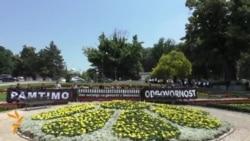Serbian Protestors Push For Recognition Of Srebrenica Genocide
