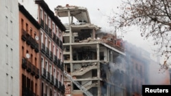 انفجار در شهر مادرید مرکز اسپانیا
