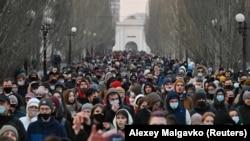 Акция в поддержку Алексея Навального, Омск, 21 апреля 2021 года