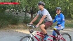Пилот для незрячего велосипедиста. Рассказываем о его работе на веломарафоне в Алма-Ате