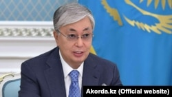 Kazakh President Qasym-Zhomart Toqaev