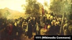 Горшельт Теодор. Йийсар вина Шемаль коьртачу буьйранчина эла Барятинскийна хьалха 1859-чу шеран Масхьокху-беттан 25-чу дийнахь.