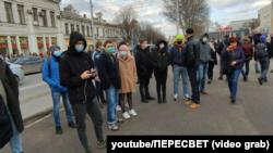 Мітинг у Сімферополі на підтримку Олексія Навального, 23 січня 2021 року