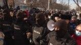 Внутри полицейского окружения. Алматы, 10 января 2021 года.