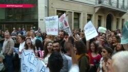 """""""Их просто хотят заткнуть"""". В Венгрии и по всей Европе развернулась кампания в поддержку ЦЕУ"""