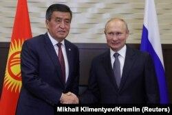 Russiýanyň prezidenti Wladimir Putin 28-nji sentýabrda Soçide gyrgyz prezidenti Sooronbaý Jeenbekow bilen duşuşdy.