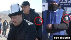 Президенттикке талапкер Садыр Жапаров жана аны коштоп жүргөндөр. Сүрөт интернеттеги социалдык түйүндөрдөн алынды.